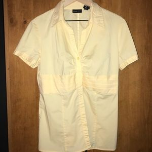 New York & Co Lght Yellow Blouse(14), gently used